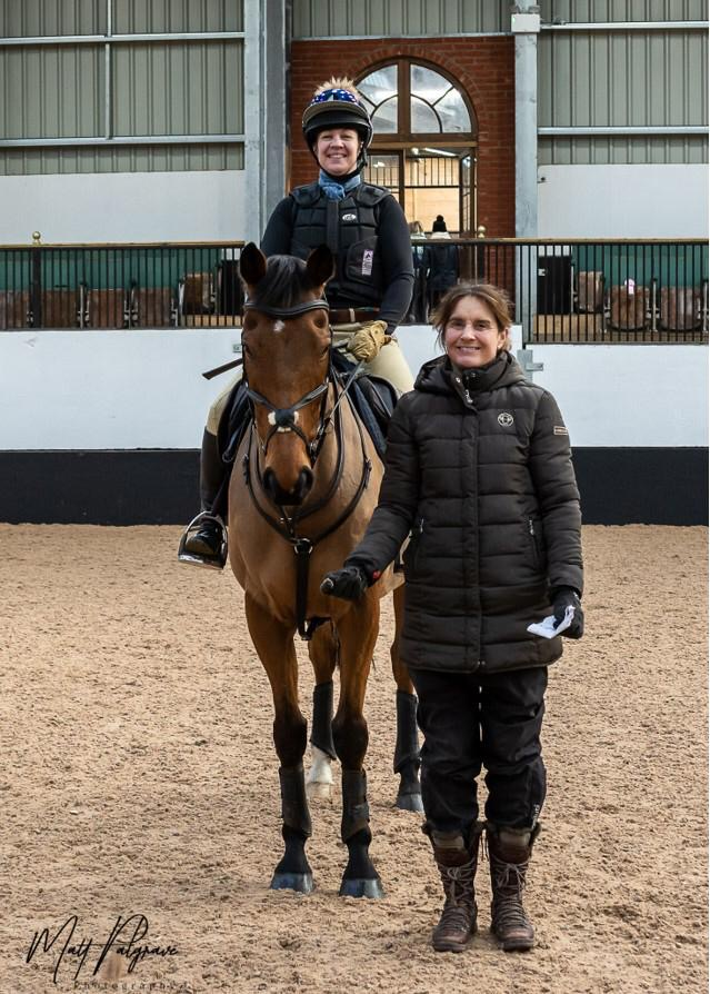 Piggy with clinic rider 2020