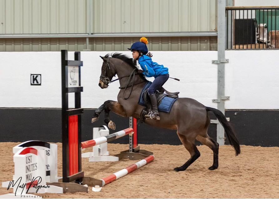 Young rider at 2020 clinic